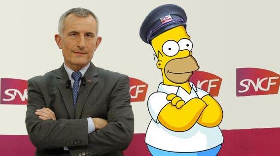 Guillaume Pepy et Homer Simpson