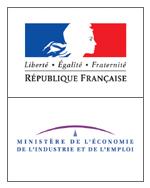 Logo Ministère de l'Economie, de l'Industrie et de l'Emploi