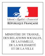 Logo Ministère du Travail, des Relations sociales, de la Famille, de la Solidarité et de la Ville