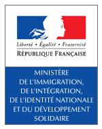 Logo Ministère de l'Immigration, de l'Intégration, de l'Identité nationale et du Développement solidaire