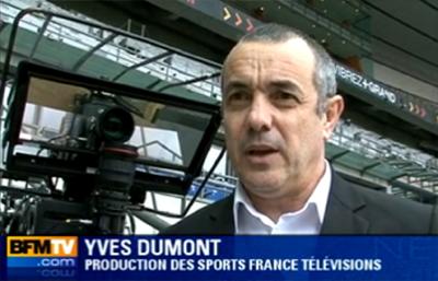 Rugby en 3D sur BFMTV Yves Dumont