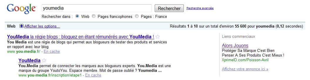 Recherche Google pour Youmedia