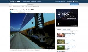 Dailymotion : La vidéo dans la page complète