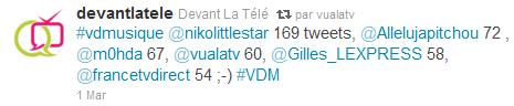 vualatv Victoires de la Musique Live tweet