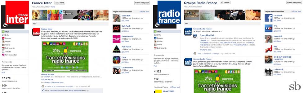 ftv radiofrance telethon sur france inter